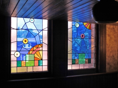 stained-glass at the Miller Inn Ithaca