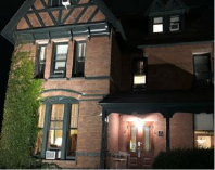 The William Henry Miller Inn in Ithaca New York at night
