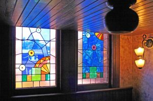 The William Henry Miller Inn stained glass window